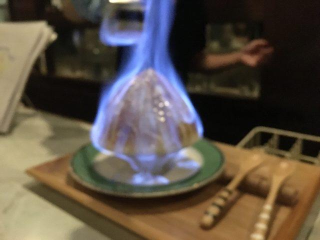 奈良県ならまちにあるバー『Gentry(ジェントリー)』のエスプーマかき氷