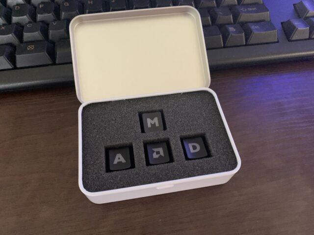 AMDキーキャップをメカニカルキーボードと合わせたらカッコ良すぎた